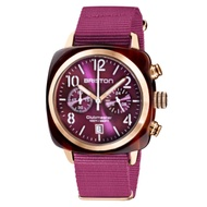 BRISTON CLUBMASTER 經典雙眼計時手錶-優雅紫/40mm