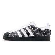 adidas 休閒鞋 Superstar 黑 白 金標 滿版標籤 三葉草 貝殼頭 男鞋 【ACS】 FV2820