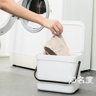 洗衣籃 掛壁式收納桶浴室臟衣服收納筐塑料臟衣籃簍密封臟襪子收納桶T 3色