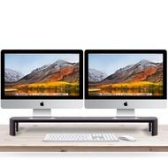 【aka】90公分雙螢幕鍵盤收納架-黑色(雙螢幕增高架/筆電架/螢幕座/筆電座)