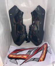 SIDE COVER SET XRM110 WITH STICKER BLACK YSK BRAND