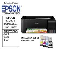 [Singapore warranty] Epson EcoTank L3150 Wi-Fi Mobile & Cloud printing  A4 All-in-One Ink Tank Printer  L 3150  (Free $20 NTUC voucher till 30/08/2020 , Online REDEMPTION by 14/09/2020)