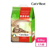 【CAT'S BEST 凱優】優質凝結木屑砂《紅標》20L/9.6kg(2包組)
