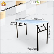 3V 2' x 4' Folding Banquet Table / Foldable Banquet Table / Function Table / Catering Table / Buffer Table / Hall Table / Office Table / Folding Table with Plastic Table Top
