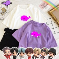 BTS Tinytan Whale Dream On Animation Inspired Shirt