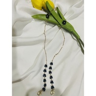 2 IN 1 MASK CHAIN/STRAP WITH EXTENDER FOR HIJAB (PEARL BUTTERFLY)