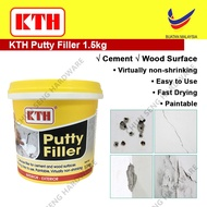 KTH Putty Filler for Cement and Wood surfaces Interior and Exterior Wall 1.5kg