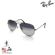 【RAYBAN】RB3025 004/78 62mm 鐵灰 偏光藍灰漸層 雷朋太陽眼鏡 直營公司貨 JPG 京品眼鏡