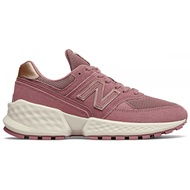Shoestw【WS574ATG】NEW BALANCE NB574 休閒鞋 麂皮 厚底增高 粉紫色女生
