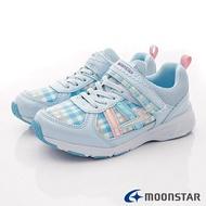 日本月星頂級童鞋 2E防潑水運動鞋款 SSJ9489 淺藍 (中大童段)-樂天雙12