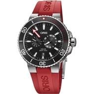 ORIS 豪利時 0174977347154-Set 時間之海限量潛水校正專業套錶(含鋼帶+膠帶)/黑面44mm