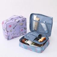 ✤宜家✤四方印花牛津布化妝包 洗漱包 小方包 大容量便攜收納包