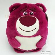 【UNIPRO】玩具總動員 深桃紅 熊抱哥 LOTSO 38公分 暖手枕 玩偶 娃娃 抱枕 靠枕 迪士尼正版授權