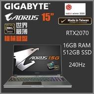 "GIGABYTE - AORUS 15 G-XB (RTX2070/15""/240Hz)【Gaming Laptop / Notebook】【電競手提電腦】"