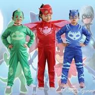 蒙面睡衣小飛俠小英雄兒童服裝萬聖節cos玩具貓頭鷹女貓小子衣服【新品直出】