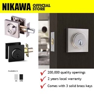 NIKAWA Single Cylinder Deadbolt D201 *Replace Main Door Lock, HDB Main Door Lock