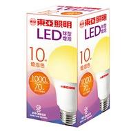 東亞 LED球型燈泡(LLA015A-10AAL)-燈泡色 10W