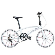 🌟Limited Style🌟 Hito X6 20/22-inch Double Tube Folding Bicycle Ultra-light Magnesium Alloy Portable Disc Brake Adult Road Foldable Bike Free Installation (Customize 20 Inch Please Leave Message) vs05s7