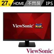 【ViewSonic 優派】VA2710-MH 27型 IPS電腦螢幕(16:9/IPS/60Hz/HDMI/VGA/含喇叭)
