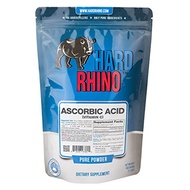 [USA]_Hard Rhino Ascorbic Acid (Vitamin C) Powder, 500 Grams (1.1 Lbs), Unflavored, Lab-Tested, Scoo