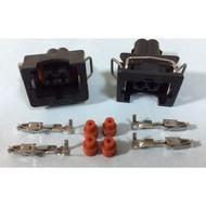 {KHS}VW 福斯 T3 T4 T5 2孔 感知器 電系接頭 連接器110型 2孔防水母端連接器 +母端端子