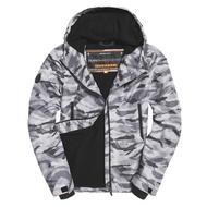 Superdry極度乾燥  風衣外套 防風外套 連帽外套 內裡刷毛單拉 白灰迷彩 M50010ST-VNM 蝦皮正品保證