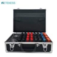 Retekess tt009 แบบพกพา 32 สล็อตค่าใช้จ่ายกรณีกล่องเก็บกระเป๋าเดินทางสำหรับ retekess tt105 ไร้สายไกด์นำเที่ยวระบบ