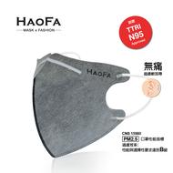 【HAOFA】3D 氣密型立體口罩 活性碳成人款 50入/盒