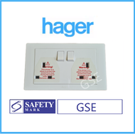 Hager 2x13A Double Socket Outlet