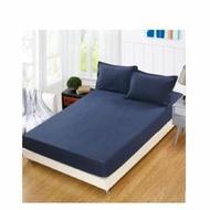 【JEN】素色雙人單件床包-藍色150*200cm(雙人)