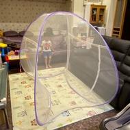二手彈開式蒙古包蚊帳120*190cm適用單人床(台中自取)破洞處約1cm