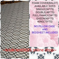 5 inches thick(KAPAL) Foam cover with zipper  poly-cotton bed cover   mattress cover   balot ng foam  double bed bedsheet size