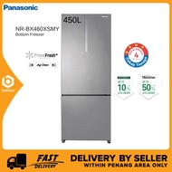 Panasonic NR-BX460XSMY 450L 2-Door Bottom Freezer Fridge – Inverter & PrimeFresh+