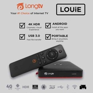 NEW Original LONGTV LONG TV Louie Smart TV Android Box Dual Band 5G Wifi Bluetooth 4K TVbox Androidbox Preinstalled 10000 World IPTV Channels Youtube Internet TV Free for life No Subscription Fee