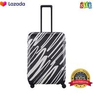 LOJELกระเป๋าเดินทาง Rando Medium (Expandable) รุ่น LJ-CF1571-2 สีดำ ขนาด 24 นิ้ว สินค้าขายดี