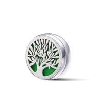 鈦鋼口罩薰香磁扣 銀 生命之樹