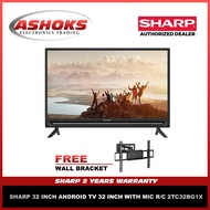 Sharp 32 inch Smart Android TV / Sharp 2T-C32BG1X  /  with Mic R/C 2TC32BG1X with FREE wall bracket / Android Tv / Smart Tv / Sharp Smart tv / Sharp led tv / ships with Wooden Crate