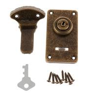Dolity วินเทจหัวเข็มขัดสลักล็อคสำหรับตู้ไม้เครื่องประดับกรณีกล่องลำต้น lockset