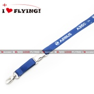 UGG Flight | Europe Airbus A350 Civil Aviation Flight Unit Air Crew Boarding ID Card Lanyard
