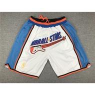 NBA明星賽籃球褲97全明星白色籃球短褲