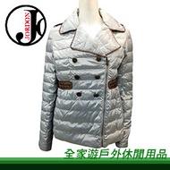 【全家遊戶外】㊣Jordon橋登 仕女羽絨外套 銀色 M、L、XL 442-3/單件式羽毛衣 羽絨外套 羽絨衣 羽毛外套 保暖透氣