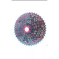 Sprocket 9 Speed 11 42t Rainbow Pelangi Cassette Cassette Cassette Bicycle Cassette