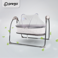 Prego Breezy Baby Swing Electric Auto Cradle Newborn Buaian Elektrik Ayunan Boleh Lipat Foldable Bluetooth USB Music 宝宝婴儿电动摇篮床