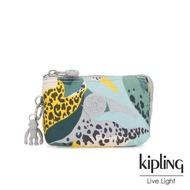 【KIPLING】叢林展葉綠三夾層配件包-CREATIVITY S