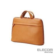 ELECOM BETSUMO 軟皮手提包13.3吋-卡其