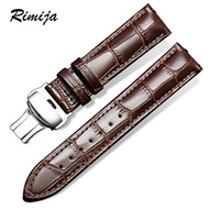 Strap Butterfly buckle leather strap men s cowhide manipulator for Casio Tissot King of Longines Lad