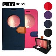 CITY BOSS*ZenFone 4 智能休眠 喚醒 視窗 手機皮套 ASUS 華碩 ZE554KL 5.5吋 磁扣/側翻/側開/保護套/背蓋/支架/可站立/雙色/TIS購物館