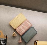【直飛現貨 正品保證】小CK 編織流蘇皮夾 錢包(粉色)CK6-10770375 皮夾 皮包
