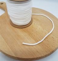 免運  防疫必囤貨商品 口罩專用3mm耳帶繫繩鬆緊帶白色一捲500碼 輕鬆吃