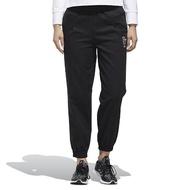 【adidas 愛迪達】長褲 STY Woven New Pants 女款 愛迪達 運動休閒 棉質 縮口褲 穿搭 黑 白(GF0117)